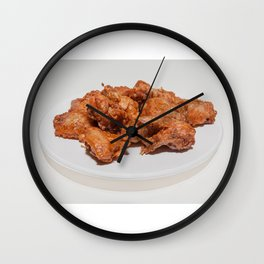 fried chicken wings Wall Clock