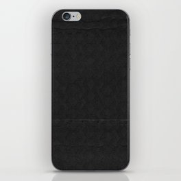 black pattern iPhone Skin
