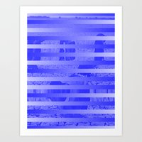 glitch Art Prints featuring Glitch by Claire Balderston