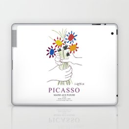 Picasso Exhibition - Mains Aus Fleurs (Hands with Flowers) 1958 Artwork Laptop & iPad Skin