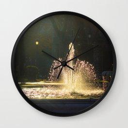 The Fountain of Apollo, Madrid Wall Clock