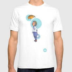 Topaz Dreaming. MEDIUM White Mens Fitted Tee