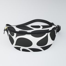 Small Abstract Black & White Foliage Pattern - Mix and Match with Simplicity of Life Fanny Pack