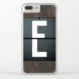 monogram schedule e Clear iPhone Case