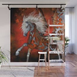 Steampunk, awesome steampunk horse Wall Mural