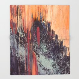 Night and Day: pretty abstract piece in orange, purple, and blues Throw Blanket