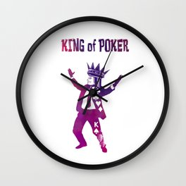 The King of Poker Wall Clock