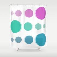 bubbles Shower Curtains featuring Bubbles by Cs025