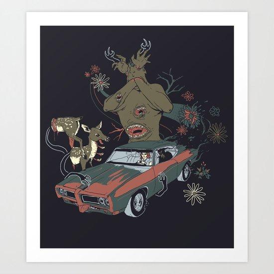 Psilocybe Ride Art Print