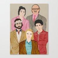 tenenbaums Canvas Prints featuring Royal Tenenbaums by Adam Vass