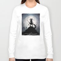 skyrim Long Sleeve T-shirts featuring Skyrim Kid by Andy Fairhurst Art