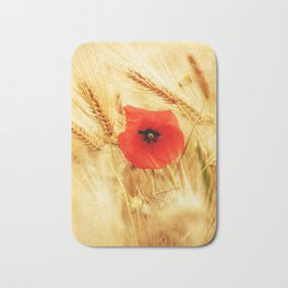 Poppies in the cornfield Bath Mat