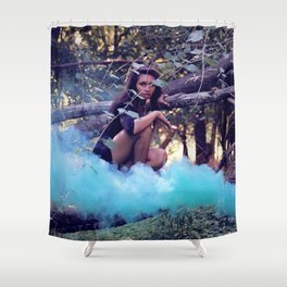 From the majesty she rises Shower Curtain