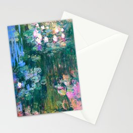 water lilies : Monet Stationery Cards