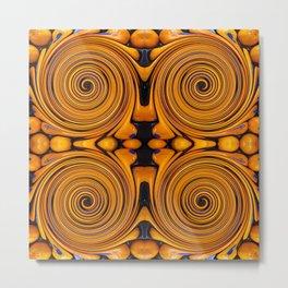 Orange fruit twirl Metal Print