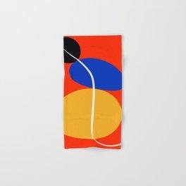 Red Zen Minimal Abstract Hand & Bath Towel