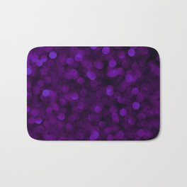 Purple Ultra Violet Glitter Bokeh Glam Pattern Bath Mat