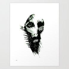 the dead evil man Art Print