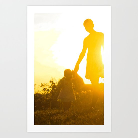 mother with child Art Print