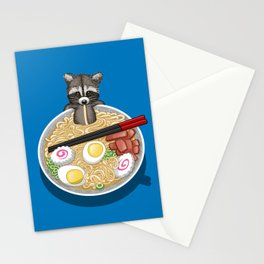 Raccoon Ramen Stationery Cards