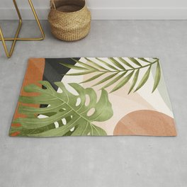 Abstract Art Tropical Leaves 21 Rug