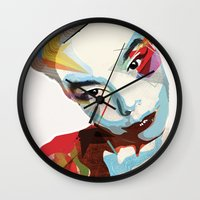 bjork Wall Clocks featuring Bjork by Zaneta Antosik