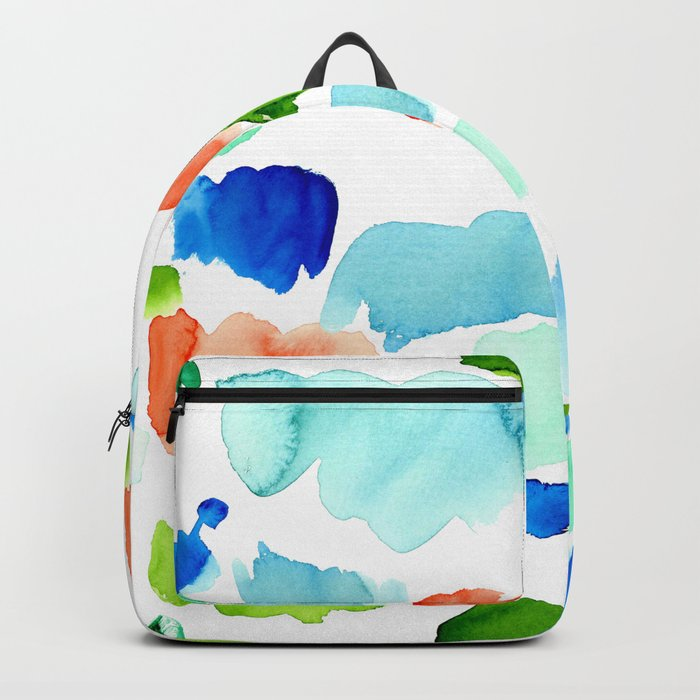 Watercolor Swatch Pattern Backpack