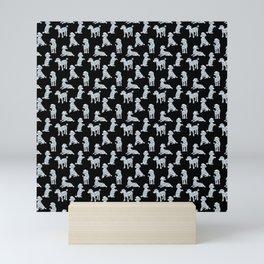 Diamond Poodles Mini Art Print