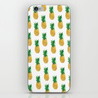 pineapples iPhone & iPod Skins featuring Pineapples by millymay2