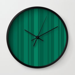 Green striped background Wall Clock