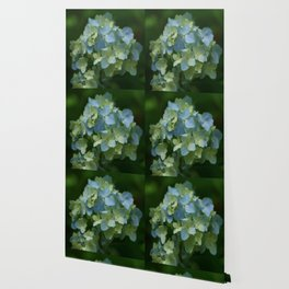 Blue Hydrangea - Painterly Style Wallpaper