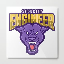 Powerful Security Engineer Metal Print