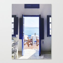 House and beach Canvas Print
