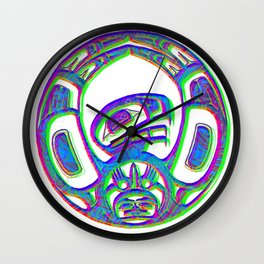 Native American symbol Wall Clock
