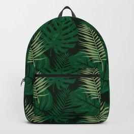 Tropical Leaves Green Backpack
