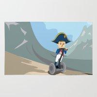 napoleon Area & Throw Rugs featuring Napoleon Segways the Alps by Mouki K. Butt