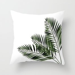 Tropical Exotic Palm Leaves I Throw Pillow