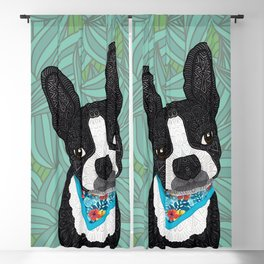 Tropical Boston Terrier Boy Blackout Curtain