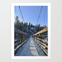 Across the Bridge Art Print
