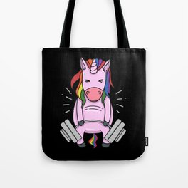 Weightlifting Unicorn | Fitness Training Tote Bag