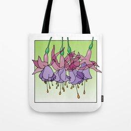 Purple Fuchsias Tote Bag