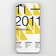 IGNS poster design iPhone Skin