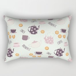 Coffee and Cookies (Main Pattern) Rectangular Pillow