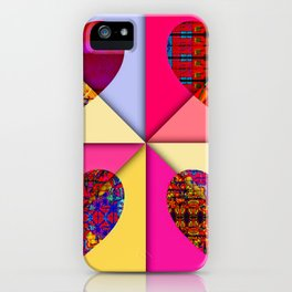 HEARTS SPINNING iPhone Case
