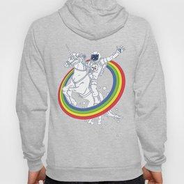 Astronaut riding a unicorn Hoody