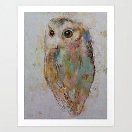 Owl Painting Art Print