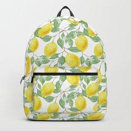 Sicilian Lemon Pattern I Backpack