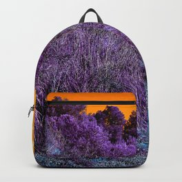 Not home planet alien landscape indigo purple orange surreallist Backpack