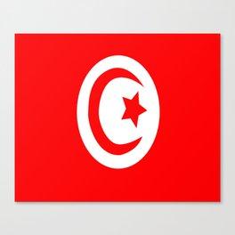 Flag of Tunisia Canvas Print