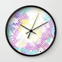 Triangle Pattern Wall Clock